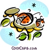 Vector Clipart graphic  of a Ladybugs