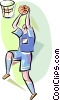 Vector Clipart picture  of a Basketball Players
