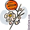 Vector Clip Art image  of a Orange blossoms