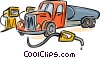 Vector Clip Art graphic  of a fuel truck