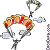 Two skydivers Vector Clipart picture