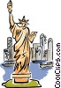 Vector Clip Art graphic  of a Statue of Liberty