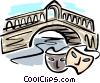 Vector Clip Art image  of a Bridge with masks