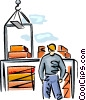 Vector Clip Art graphic  of a construction worker
