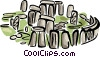 Vector Clipart illustration  of a Stonehenge