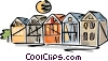 Vector Clipart picture  of a homes