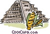 Vector Clipart picture  of a Incan Pyramids