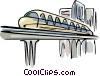 Vector Clipart illustration  of a monorail