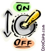Vector Clip Art graphic  of a Light Switches