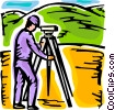 Surveyors Vector Clipart graphic
