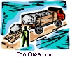 Vector Clipart image  of a Farmers