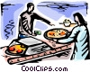 Vector Clip Art graphic  of a Restaurant scenes