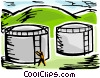 Refineries Vector Clipart picture