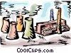 Vector Clip Art image  of a Factories and Refineries