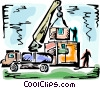 Vector Clip Art image  of a Transport Trucks