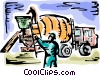 Vector Clip Art picture  of a Cement Mixers