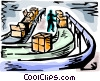 Vector Clipart illustration  of a Crates
