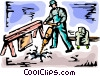Road Crews Vector Clipart picture