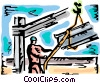 Vector Clip Art image  of a Steel and Iron