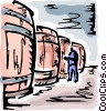 Vector Clipart picture  of a Wine Barrels