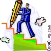 Vector Clip Art image  of a Stairways to Success