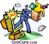 Vector Clip Art graphic  of a Online Transactions