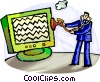 Computer Viruses Vector Clipart illustration