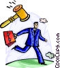 On the Move Vector Clipart picture