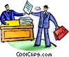 Doing Paperwork Vector Clip Art image