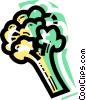 Vector Clipart graphic  of a Broccoli