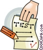 school test Vector Clipart illustration