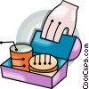 lunch box Vector Clipart graphic