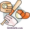 Vector Clip Art graphic  of a baseball bat