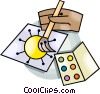 Vector Clip Art graphic  of a Paints and a picture
