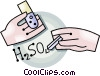Vector Clipart illustration  of a chemistry