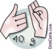 Vector Clip Art image  of a sign language