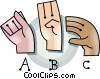 sign language Vector Clipart illustration