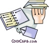 paper airplanes Vector Clip Art graphic