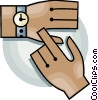 Vector Clip Art image  of a wristwatch