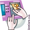 bank machine Vector Clipart image