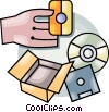 Vector Clipart graphic  of a ordering software