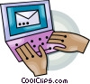 Vector Clip Art picture  of a laptop computer