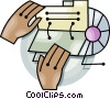Vector Clipart graphic  of a rolodex