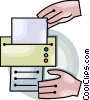 Vector Clipart graphic  of a fax machine