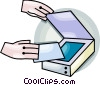 flatbed scanner Vector Clipart picture