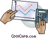 Vector Clip Art graphic  of an adding up sales