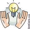 Vector Clip Art image  of a idea light bulb