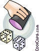 Vector Clipart picture  of a rolling the dice