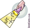Vector Clipart graphic  of a financial concept