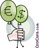 Vector Clip Art image  of a money concept